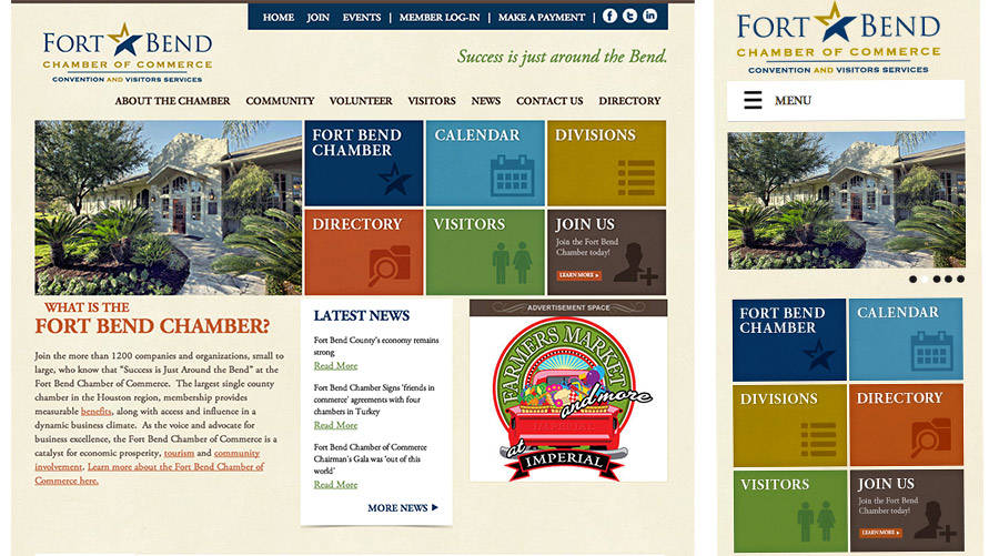 The Fort Bend Chamber Of Commerce | New Responsive Website | Blue Sky Marketing